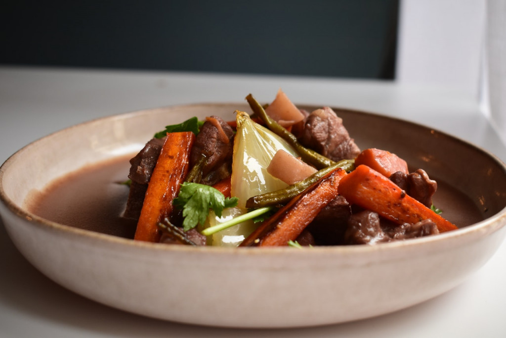 Beef tips and veggies